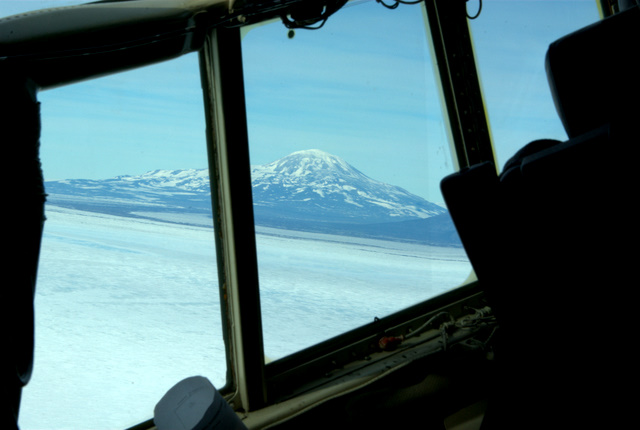 Mount Erebus from the plane
