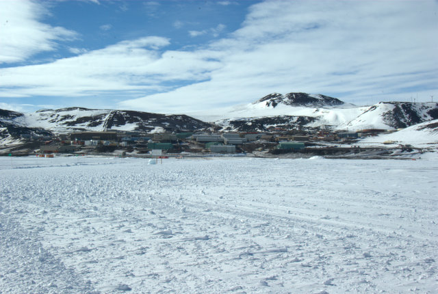 View of McMurdo from the sea ice