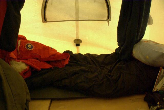Inside view of my tent